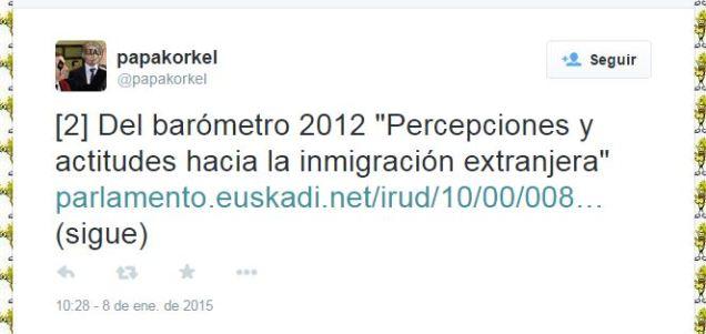 """Del barometro 2012 """"percepciones y actitudes hacia la inmigración extranjera"""""""